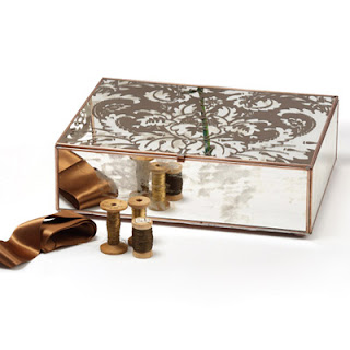 Layla Grace Damask Mirror Cigar Box