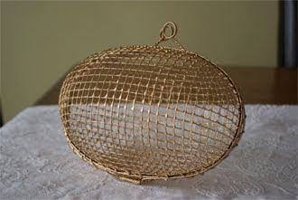 Proper Hunter Gold Wire Basket