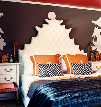 Mary McDonald Asian inspired Bedroom Modern
