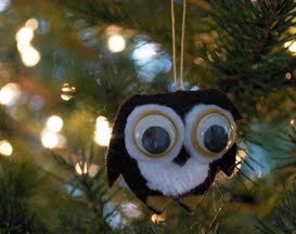 handmade christmas ornaments owl