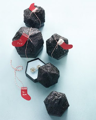 Lump of Coal Gift Wrapping