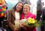 Vicepresidenta nacional con  ex presidenta de Chile