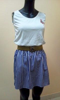 Item: D6002 Color: Blue(3)/Black(2)/Red(sold) Size: Free (best fit XS-M)  Measurement: Length ~85cm, Waist 24
