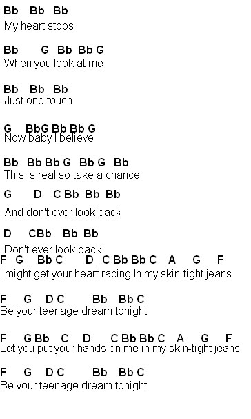 Flute Sheet Music Teenage Dream