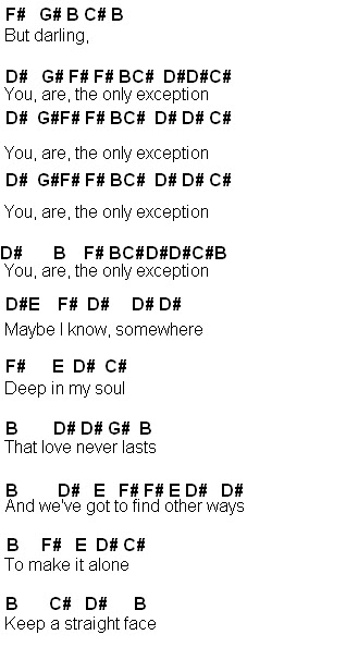 Flute Sheet Music The Only Exception
