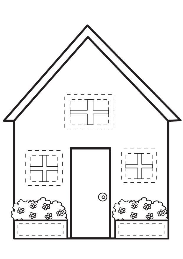 Kids Under 7 Houses And Homes Coloring Pages