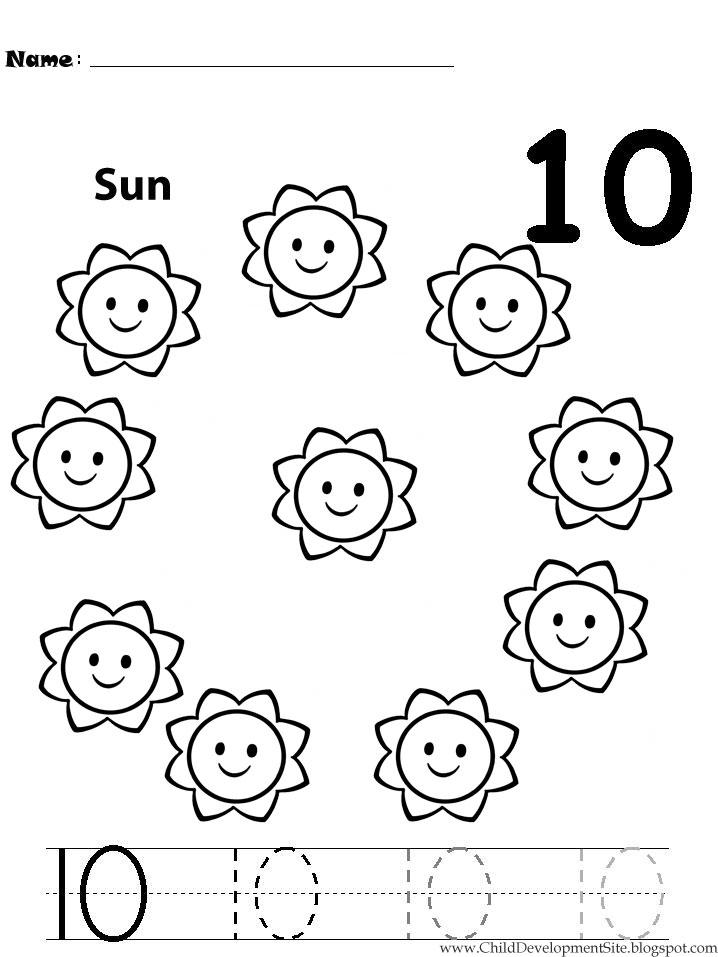 Number 10 Worksheets For Kindergarten worksheet 19801400 numbers – Printable Number Tracing Worksheets for Kindergarten