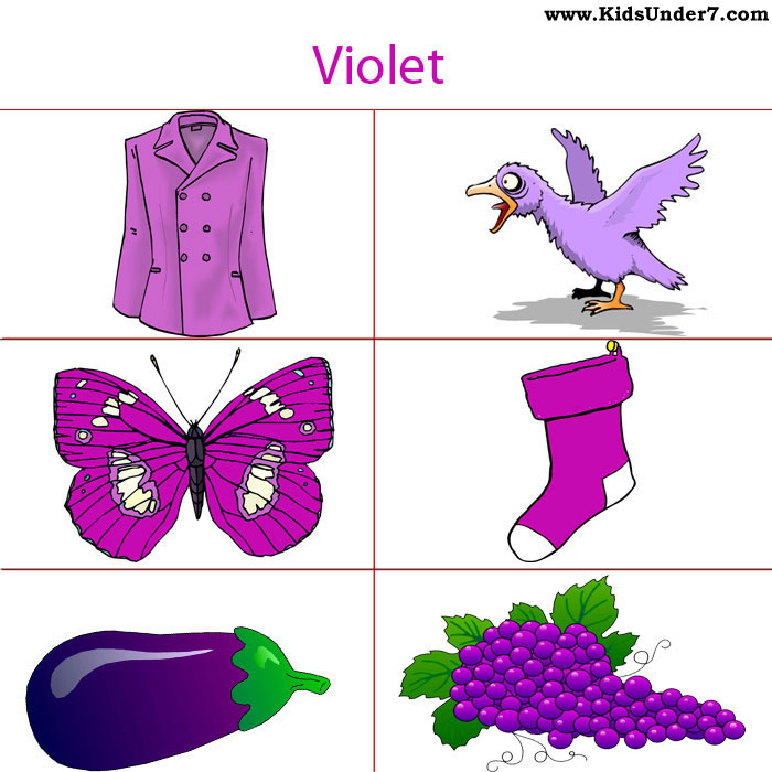 free printable color flash cards - Color Purple Worksheets For Preschool