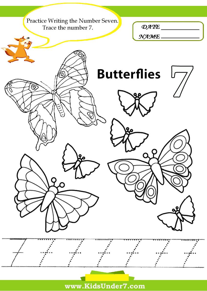 kids under 7 number tracing 1 10 u2013 worksheet part 1