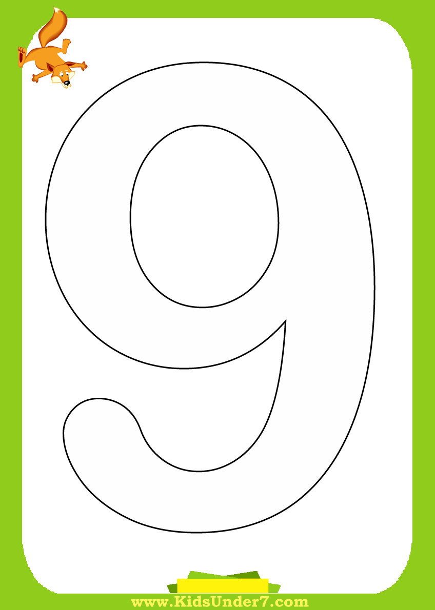 Free Coloring Pages Of Tracing Number 9
