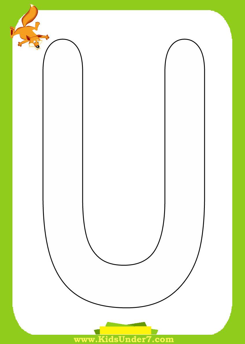 Розфарбовувань букви від a до z letters a z