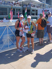 Mary and Ange at the World Championships 70.3,  2008