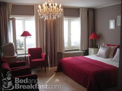 gray and red bedroom. red + brown gray and red bedroom