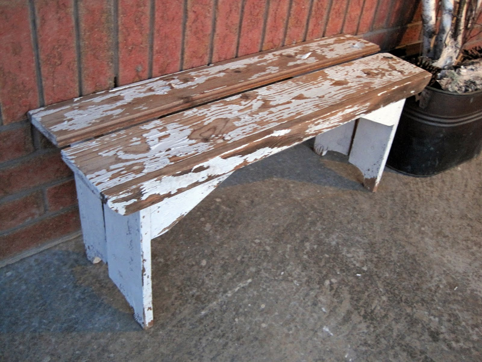 Sense And Simplicity Our Distressed Bench