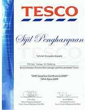 TESCO Supplier Certificate
