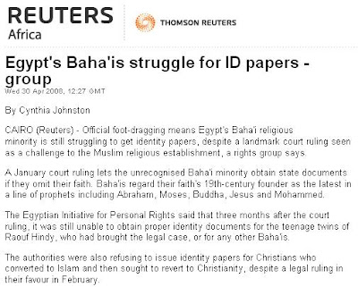 Egypt's Baha'is struggle for ID papers