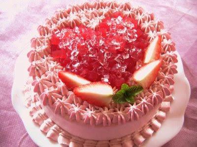 Marshmallow Peeps Valentine's Day Layer Cake