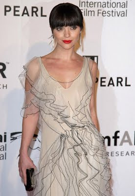 Photos of Christina Ricci at the The 3rd Annual amfAR Cinema Against AIDS in Dubai - Nice Gown