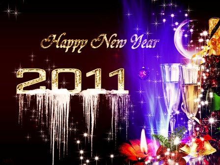 Best Wallpaper Happy New Year 2011 With Creative Design New Year 2011 Wallpapers, New Year Desktop Wallpapers, New Year 2011