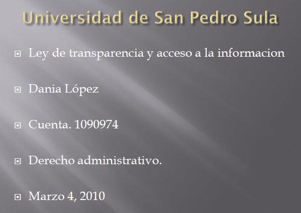 Haga CLICK sobre la imagen para descargar la presentacion LEY DE TRANSPARENCIA