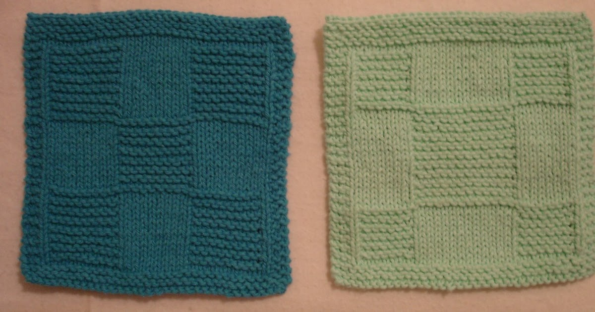 Knitted Quilt Block Patterns : Carols Quilting Blog: Knitted Quilt Block Dishcloths