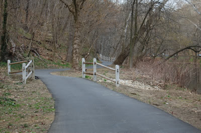 Bike trail, lower Wissahickon Park.