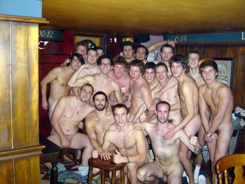 playing sports nude Men