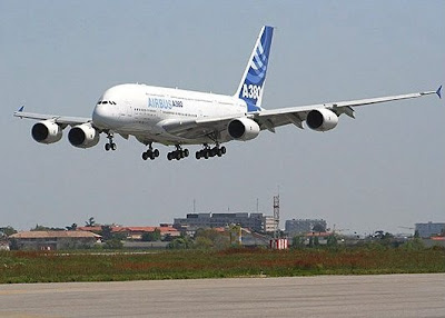 Maiden flight of the A380 image