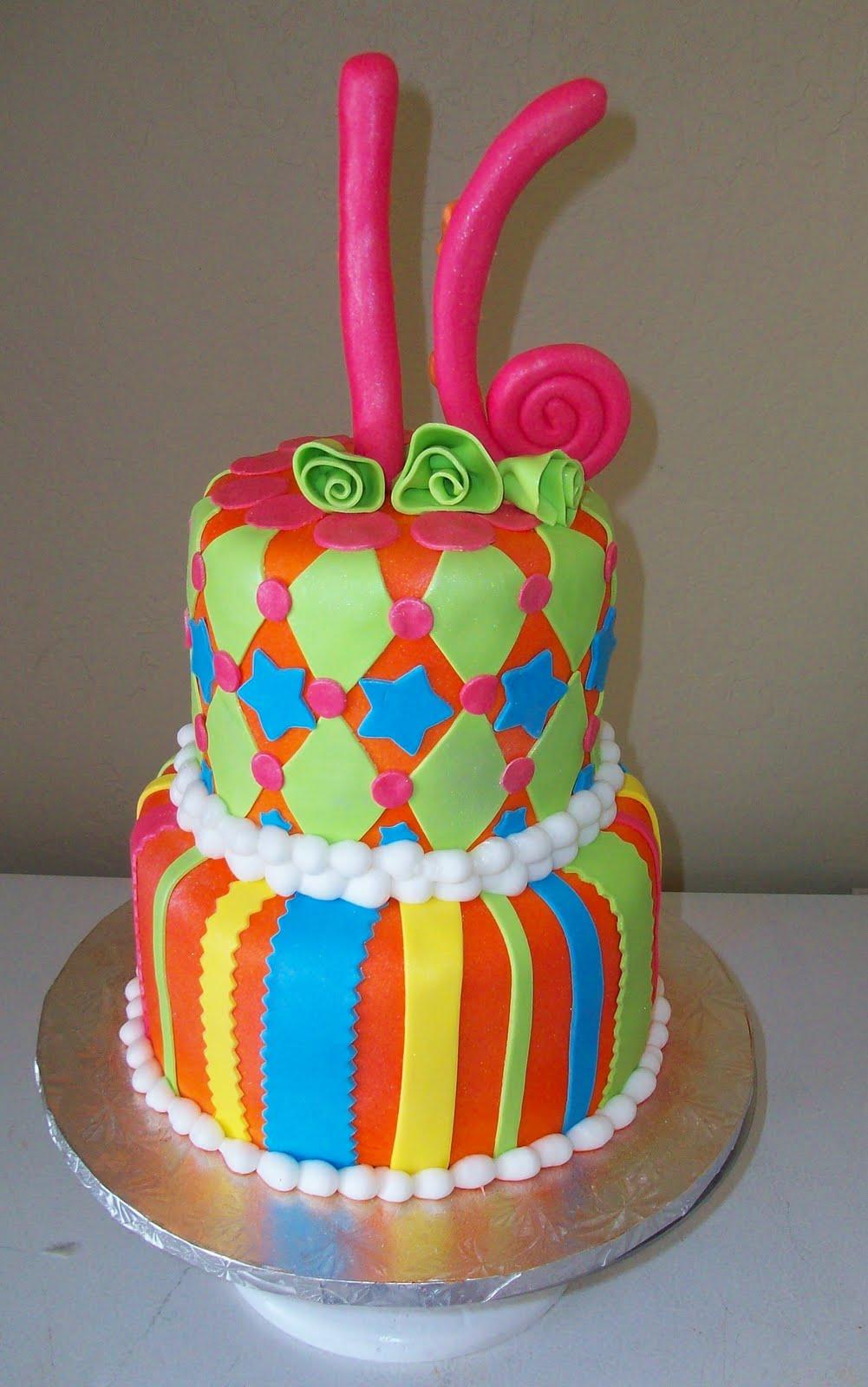 fondant tiered cakes