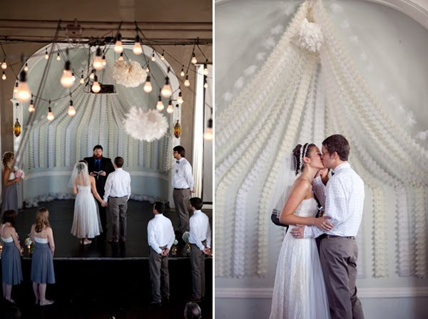 Real wedding vintage wedding on a budget oh lovely day for Wedding ceremony decoration ideas