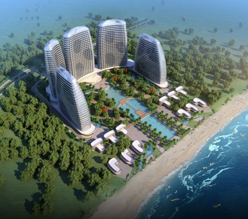 E group e group 39 s starts landscape design work on huidong for Hotel landscape design