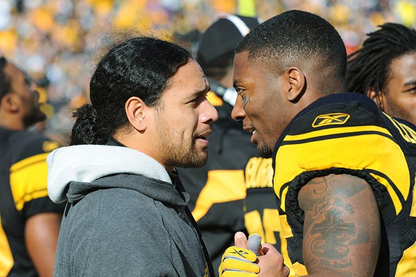 Photo of Troy Polamalu & his friend American Football player  Ryan Clark -