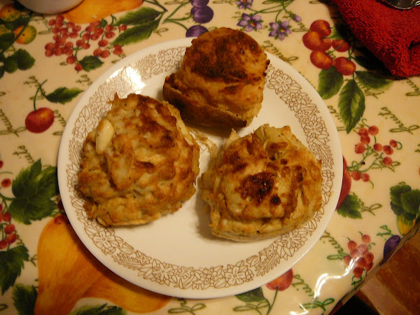 Double Jumbo Lump Crab Cake and stuffed potato