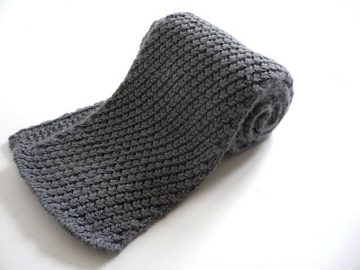 Pattern For Baby Booties Knitted : Free Knitting Pattern: Extra Warm Men s Scarf (Women can definitely wear it!)...