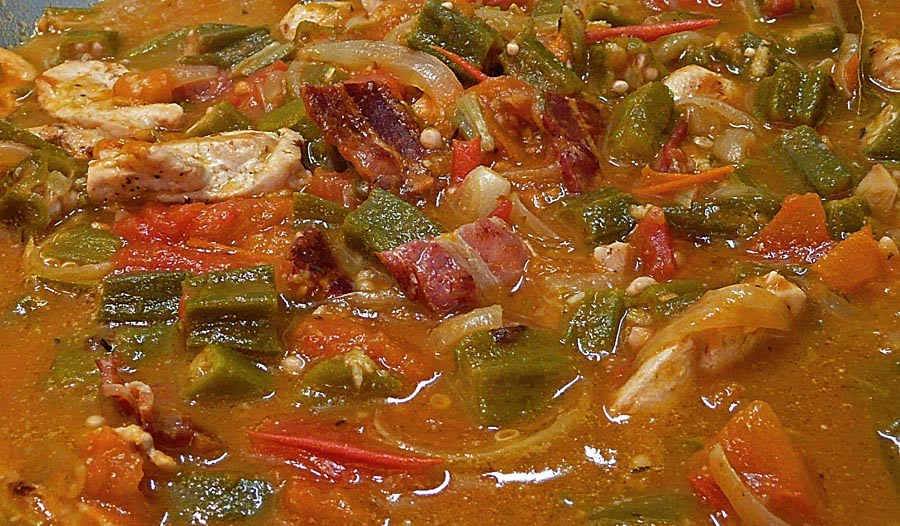 okra chicken okra stew my favourite the okra until golden okra stew ...