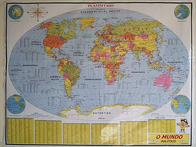 el mapa mundial. mapa mundi em portugues. virá