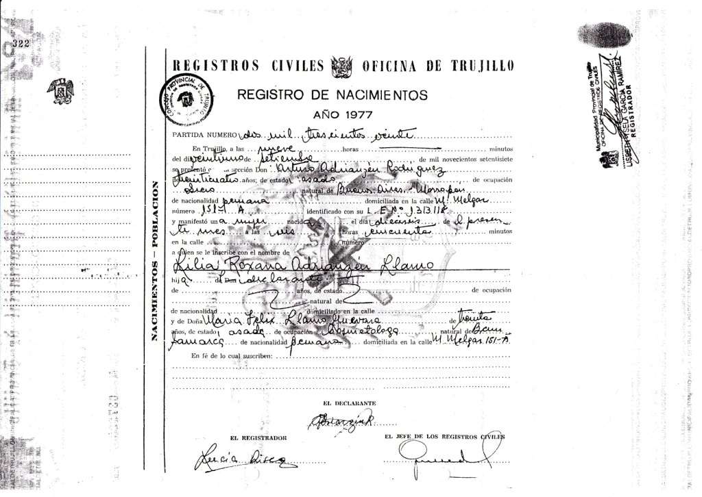 Atractivo Son Certificados De Nacimiento De Registros Públicos ...
