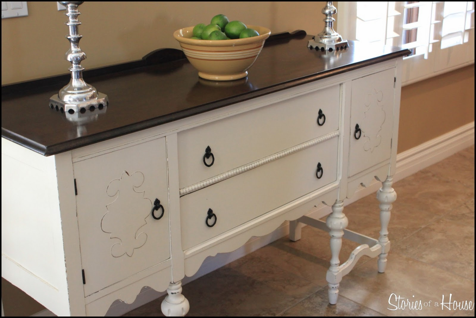 Painted buffet table furniture - Before And After 1920 S Antique Buffet