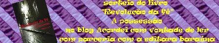 REFAZENDO O SORTEIO DO LIVRO REVOLUÇÃO DA FÉ A POSSESSÃO