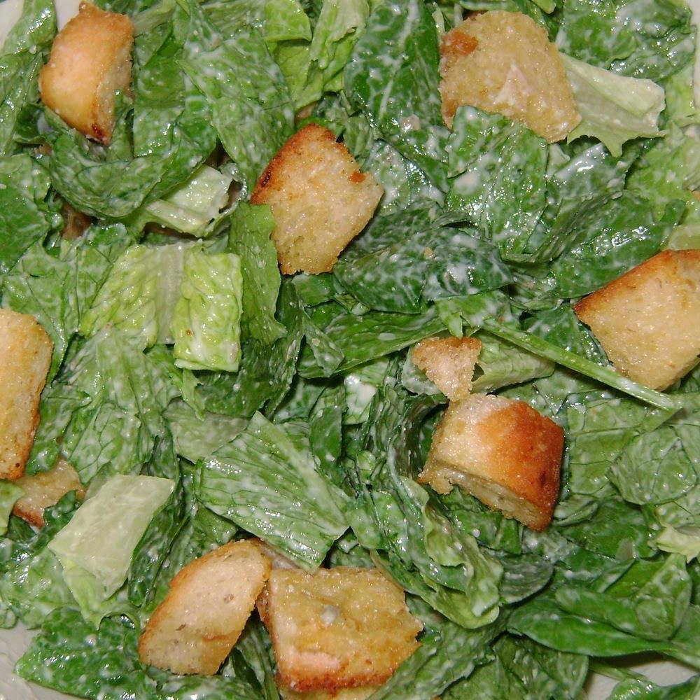 Scrap. Eat. Book.: Caesar Salad with Roasted Garlic Croutons