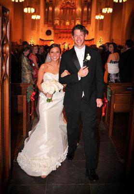 Clayton kershaw ellen melson wedding for Jill goodacre wedding dress