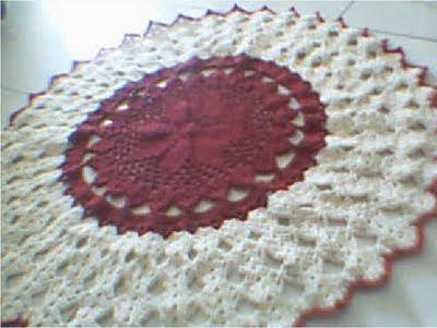 tapetes feito em croche