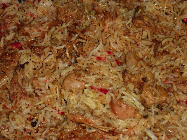 Chicken Biryani with Raita