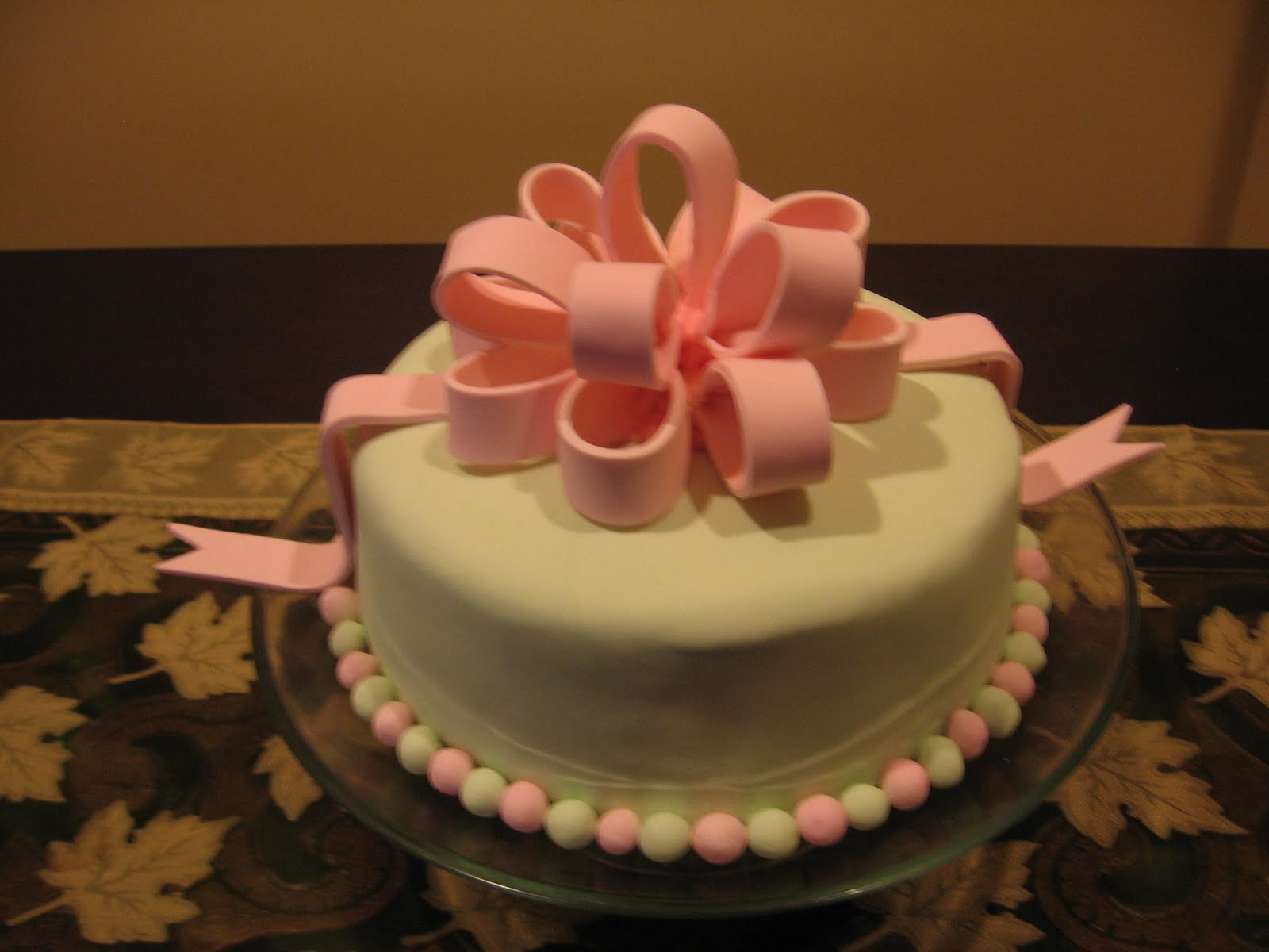 Fondant cake wedding anniversary