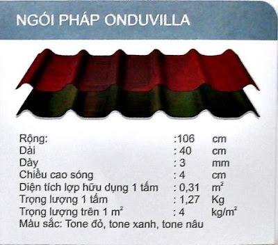 Báo giá ngói pháp onduvilla mới nhất -  Sản phẩm mới