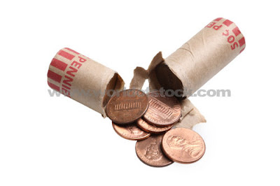 A roll of pennies. Hot huh?