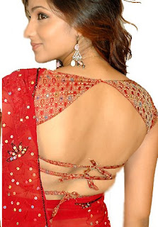 Backless Designer Blouses, Party Wear Backless Blouse with Saree