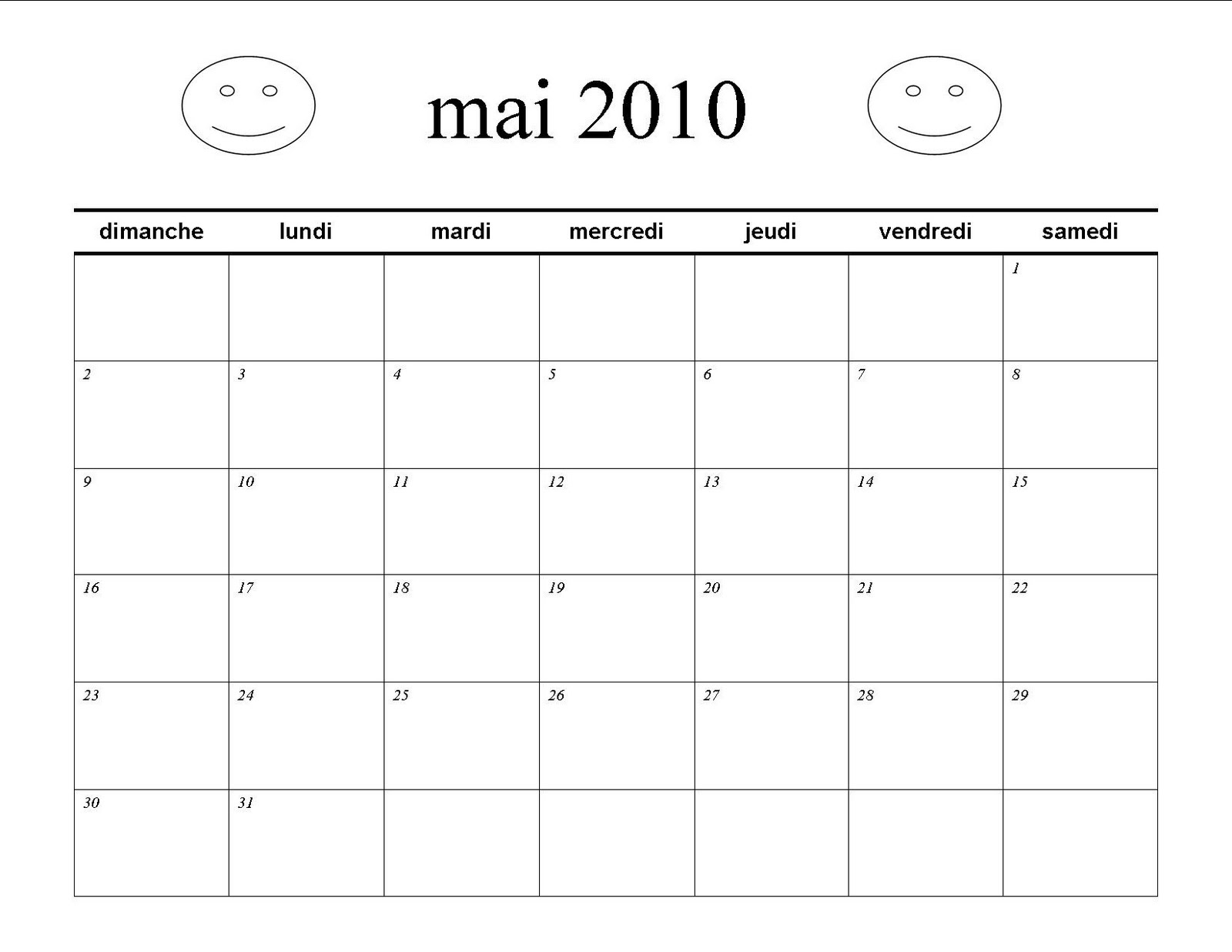 Language for Little Learners: French calendar for May