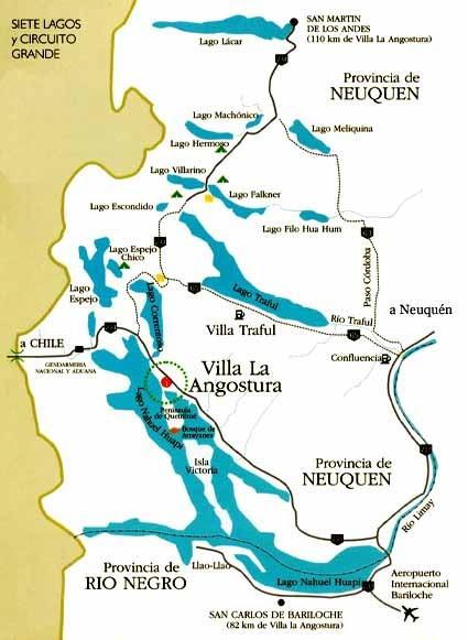 Circuito Grande : De bariloche mapa siete lagos y circuito grande