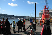 Re-opening the tug wharf promenade at Kumutoto